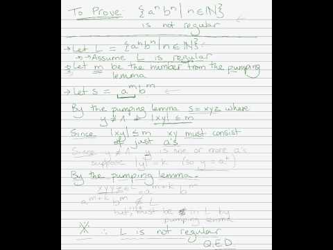 Outline of pumping lemma proof