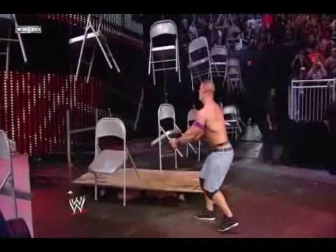 WWE TLC 2010 John Cena vs Wade Barrett (Chairs Match) Highlights