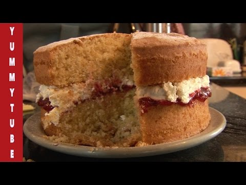 Victoria Sponge Cake Recipe  Quick and easy to make, Cooking channel with Miss Wendy.