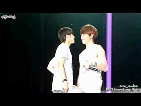 [FANCAM] 110701 BEAST FM in Malaysia - JunSeob moment during I Like You the Best