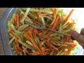 Фрагмент с конца видео НОВОГОДНЯЯ ЗАКУСКА, дунганский салат с редькой, готовим дома, вкусно, быстро и полезно
