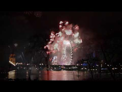 Fejerverkai Londone 2012 / London  New Year 2012 Fireworks HD