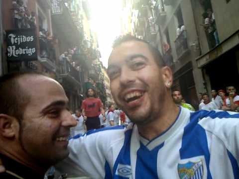 Alhaurinos en los San Fermines 2010 - Calle Estafeta - Cuarto Encierro