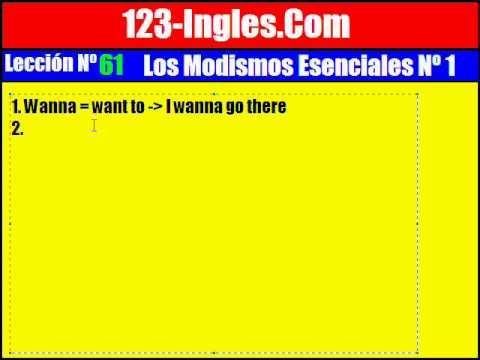 Aprender Inglés. 61. Los Modismos Del Inglés Nº 1
