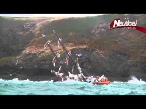 LIVE FOOTAGE: Tall-Ship ASTRID Wreck & Rescue - 24 July 2013