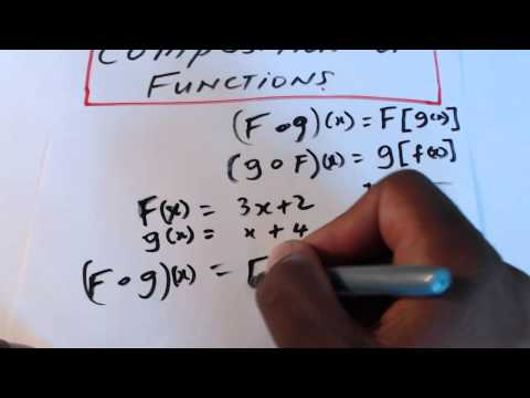 CXC Math, Functions: Composition Of Functions.