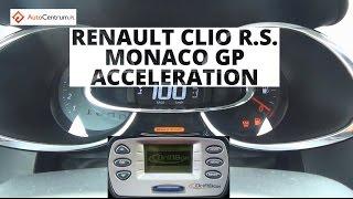 Renault Clio R.S. Monaco GP 1.6 Turbo 200 KM - acceleration 0-100 km/h