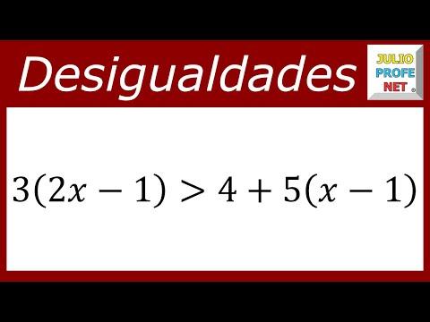 Solución de una desigualdad lineal