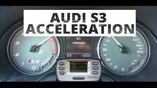 Audi S3 2.0 TFSI 300 KM - acceleration 0-100 km/h
