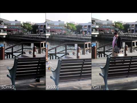 Comparison 3 DSLRs movie test  D5000,5Dmk2,GH1