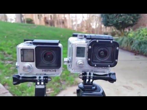 GoPro Hero 4 Silver VS Hero 3 Silver Video Test