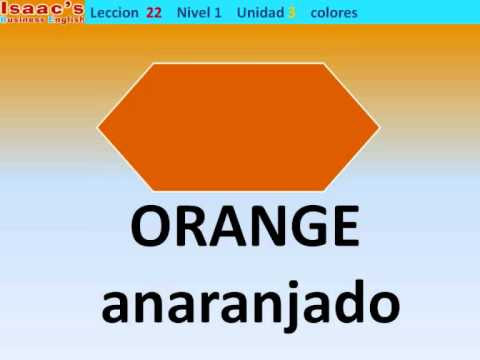 Curso de Ingles gratis  22. nivel 1  colores colors