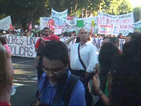 EDUCACIÓN: No Somos Recortables 2 - Manifestación 20S