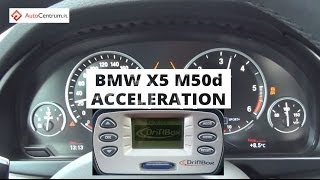 BMW X5 M50d 381 PS - acceleration 0 100 km/h