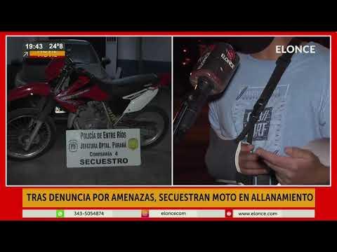Tras denuncia de amenazas, la Policía secuestró una moto en allanamiento
