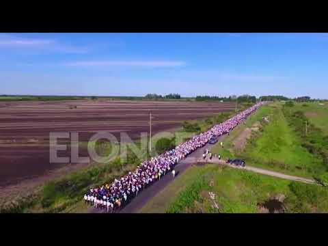 Muestra de Fe y amor a la Mater: La Peregrinación de los Pueblos desde el drone