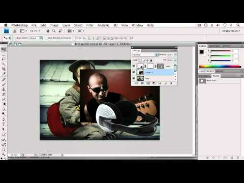 Adobe Photoshop CS4 Extended Advanced Ch6 CREATING COMPOSITIONS  Combining Vector & Pixel Masks