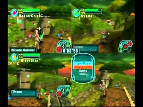 "PSO I&II 4-Player Splitscreen Challenge Stage 1  (8""05)"
