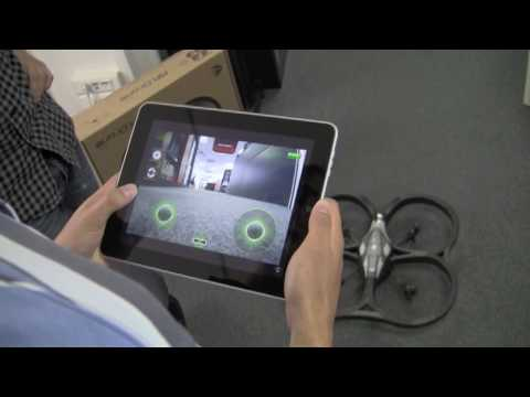 iPad pilots the AR.Drone