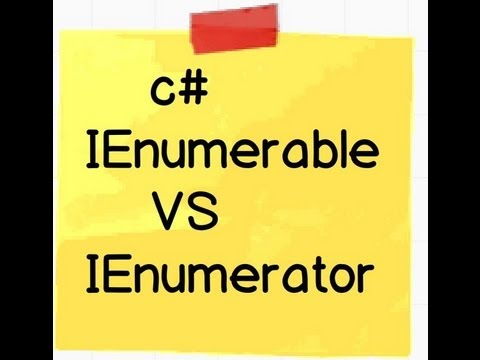 c# and .NET :- Difference between IEnumerable and IEnumerator.