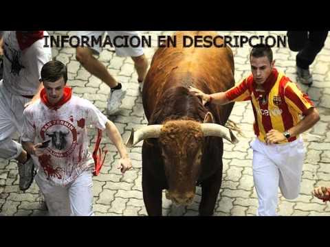 Cuarto encierro de los SanFermines 2012 | En vivo, Resumen, heridos.. [HD]