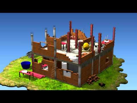 Animação 3D Construção Civil