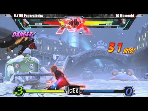 UMVC3 FLY HR Paperstacks vs EG Momochi - CEO 2012 Tournament