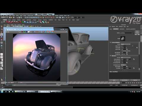 V-Ray 2.0 for Maya with Interactive rendering on CPU&GPU