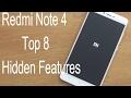 Top 8 Hidden Redmi Note 4 Features !! Tips & Tricks !! HINDI !!