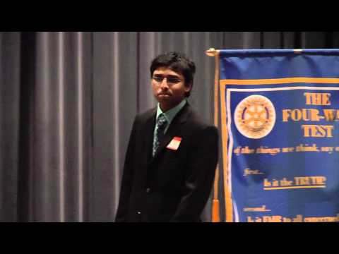 2012 Rotary Four Way Test -- 1st Place Winner Ashwin Rane of Solon High School