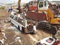 Bus destroyed  july 2008 by Liebherr