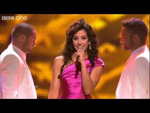 "Spain: ""Que me quiten lo bailoo"", Lucia Perez - Eurovision Song Contest Final 2011 - BBC One"