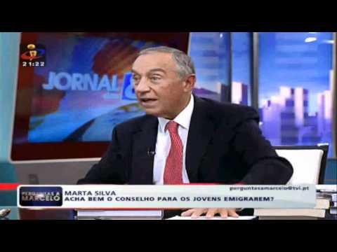 Marcelo Rebelo de Sousa aconselha Alexandre Mestre a emigrar TVI.wmv