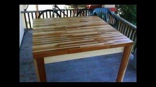 Cómo hacer una mesa con retazos de madera