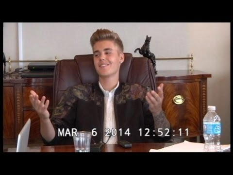 Justin Bieber, Deposition Video: Pop Star Like You've Never Seen Him Before