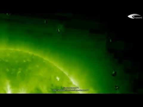 UFO near the Sun - Space Fleet - Review of March 9, 2012. (HQ)