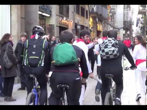 Encierro San Fermín en Barcelona. FLASHMOB