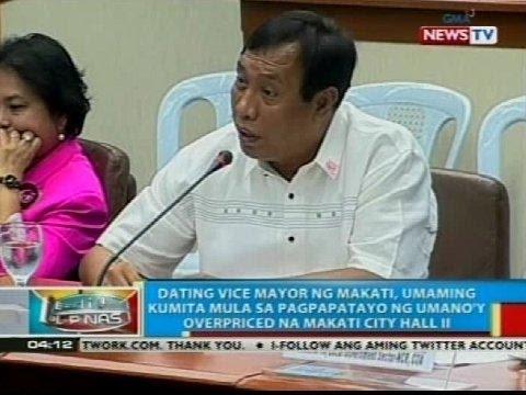 Dating VM ng Makati, umaming kumita mula sa pagpapatayo ng umano'y overpriced na Makati City Hall II