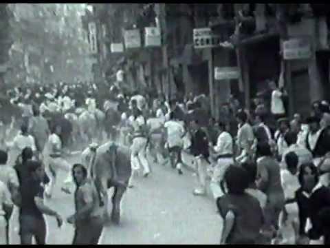 7-7-1976  Encierro de San Fermín - Ganadería Osborne