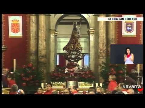 Procesión San Fermín 7 julio 2014 parte 1 lengua de signos