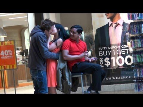 Kissing against people prank