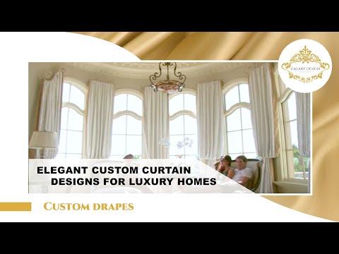 Luxurious Custom Window Treatment Ideas and Curtain Design - YouTube