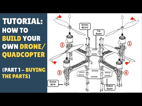 TUTORIAL: How To Build a Drone/Quadcopter - PART 1 - Buying The Parts! - UCmCBXyrezh1JG_3tJOfsB8Q