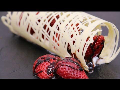 CHOCOLATE HACKS White Chocolate Decoration Technique by CakesStepbyStep