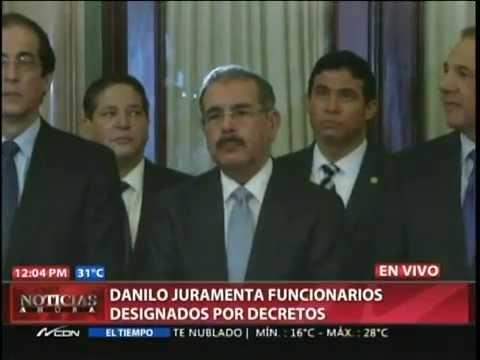 Danilo juramenta funcionarios designados por…