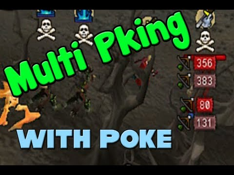 Runescape - Multi PKing Ownage with P0ke Begins - Dbow Power