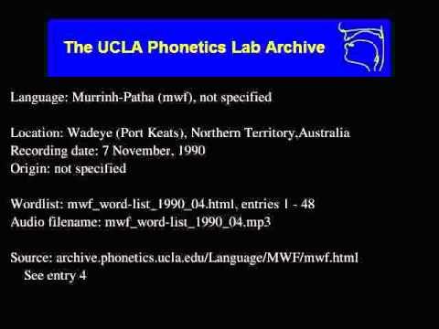 Murrinh-patha audio: mwf_word-list_1990_04