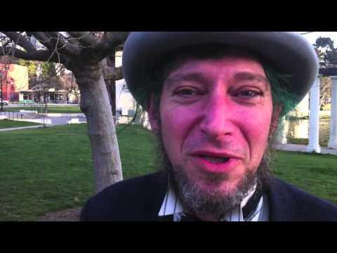 Oakland Man Looks Like Abraham Lincoln, The Mad Hatter, Walks Lake Merritt #oakland