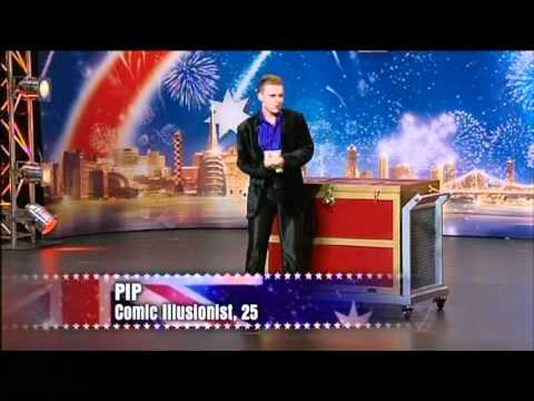 Pip Comic Illusionist - Australia's Got Talent 2012 audition 1 [FULL]