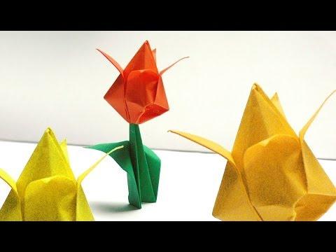 Origami vorlagen - Tulpe falten ...